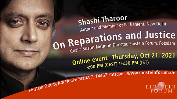 Shashi Tharoor: On Reparations and Justice